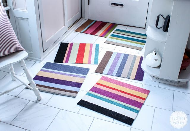 inspired by charm: For the Love of Color: My New Kitchen Rug#