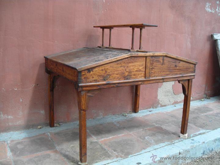 Antiguo Doble Escritorio Industrial de Oficios, Pupitre - Foto 1 ...