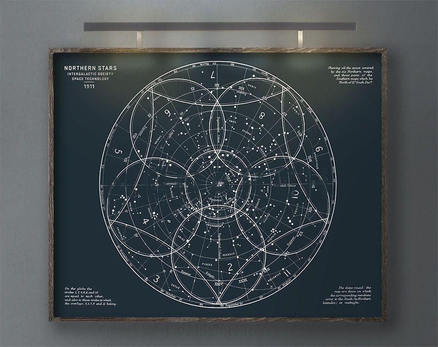 astronomy gift Astronomy print Zodiac Chart solar system star chart zodiac constellations