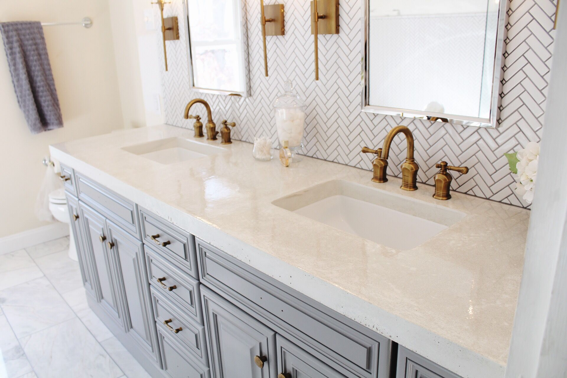 Best White Concrete Bathroom Vanity Top With Images White 640 x 480