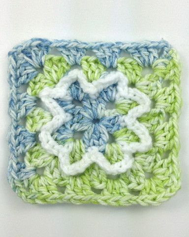 Maggie's Crochet · Blooming Granny Square Free Pattern