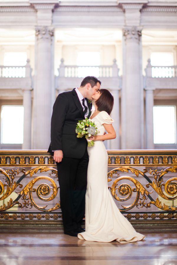 Intimate San Francisco City Hall Wedding | Courthouse wedding ...