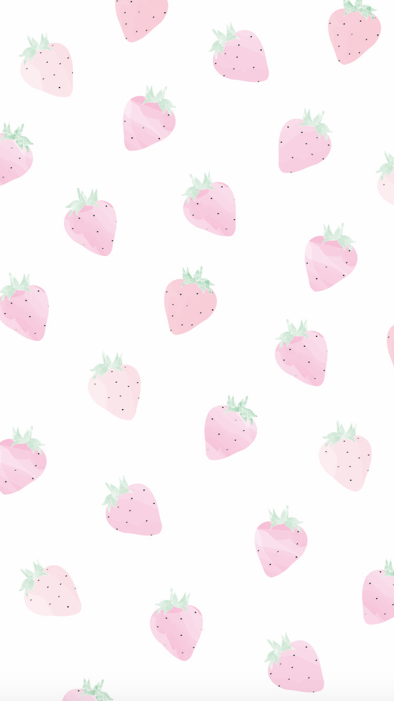 Summer Strawberry Wallpaper Design I Made By University Tees Design Team Summer Wallpaper Phone Cute Patterns Wallpaper Pastel Color Wallpaper