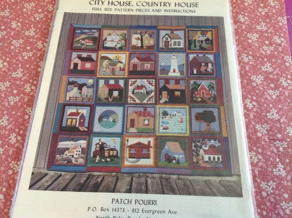 Quilt Pattern house quilt patterns unused quilt by FromLindasHouse