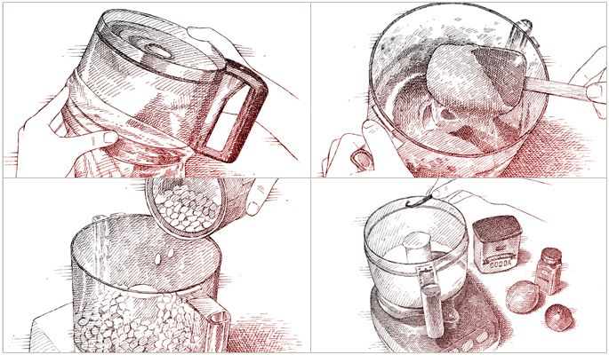 4 CLEVER WAYS TO PUT YOUR FOOD PROCESSOR TO WORK – lots of sugars – vanilla, ginger, chocolate, citrus, or cinnamon, or quick and easy breadcrumbs or peanut butter – happy whizzing!