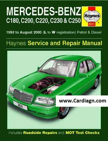 mercedes benz c class w202 1993 2000 repair manual masina rh pinterest com Mercedes W201 mercedes w202 repair manual free download