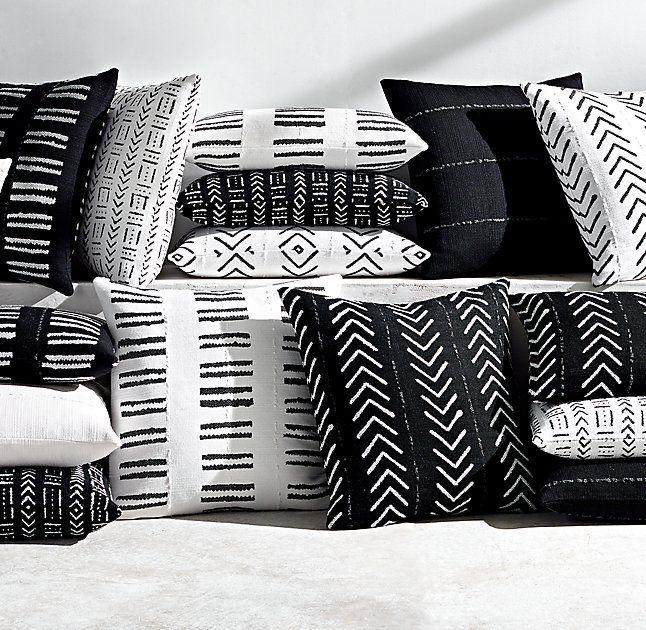 Sunbrella 174 African Mud Cloth Pillow Collection Santana