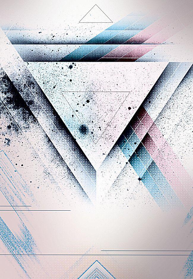 Simple Color Triangle Fashion Business Party Poster Background Projeto Do Cartaz Do Evento Design De Cartaz Fundo Para Banner,Mehndi Designs For Beginners For Kids