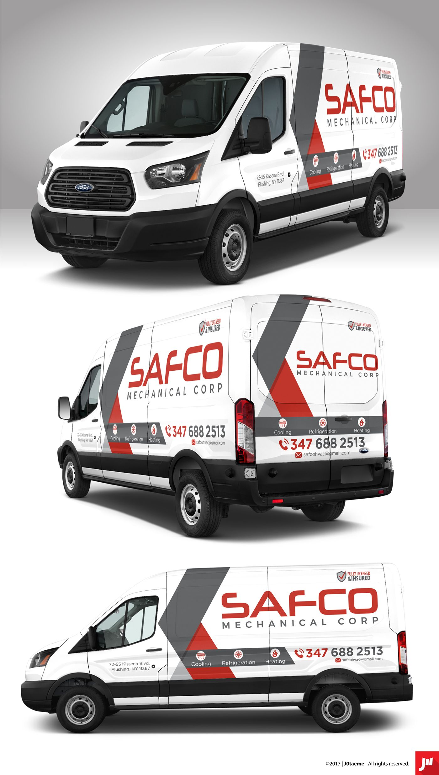 Professional Decals Based On The Name Of The Company And The