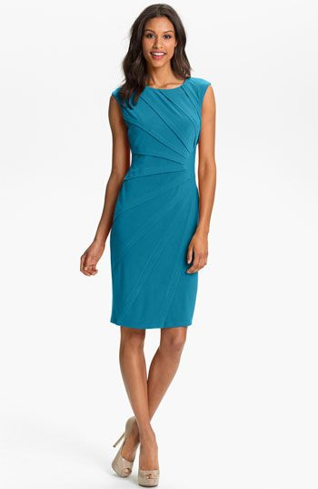 Adrianna Papell Seamed Jersey Sheath Dress available at #Nordstrom