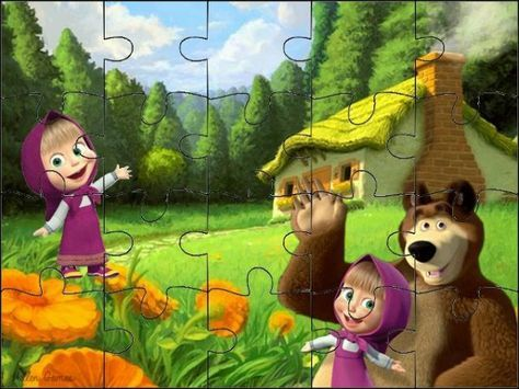 Quebra Cabeca Masha E O Urso Fazendo A Nossa Festa Marsha E O Urso Masha E O Urso Macha E Urso