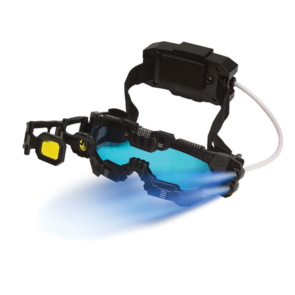 Spy X Night Mission Goggles Sharpen Night Vision Up To 25 Feet Away With This High Tech Set Features Twin Light Beams Comfortable Headset With Battery