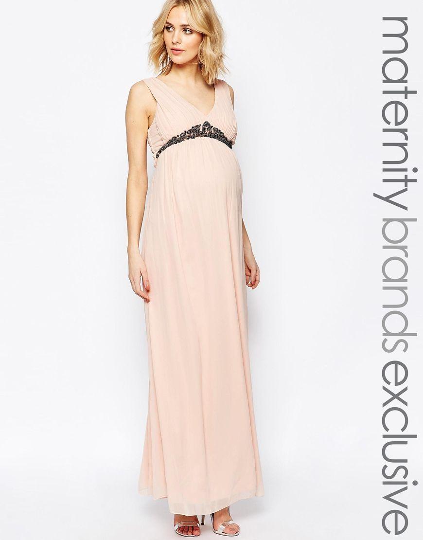 Maya+Maternity+Plunge+Front+Maxi+Dress | Fashion | Pinterest