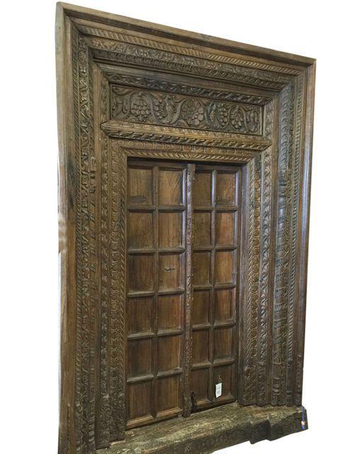 in Antiques, Architectural & Garden, Doors #door #antiquedoor #homedecor # doors - ANTIQUE Palace HAVELI DOOR Spanish Tuscan HAND CARVED VINTAGE TEAK