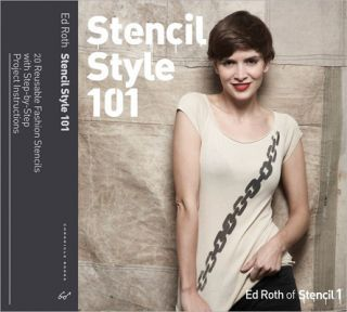 Love this book by Ed Roth! Stencil Style 101: 25 Reusable Fashion Stencils with Step-by-Step Project Instructions.