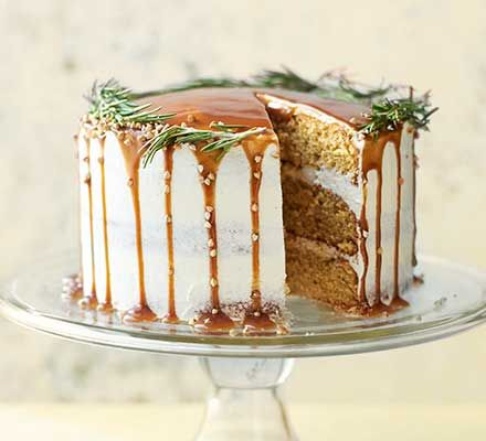Salted caramel pear cake | Recipe | Bbc good food recipes ...