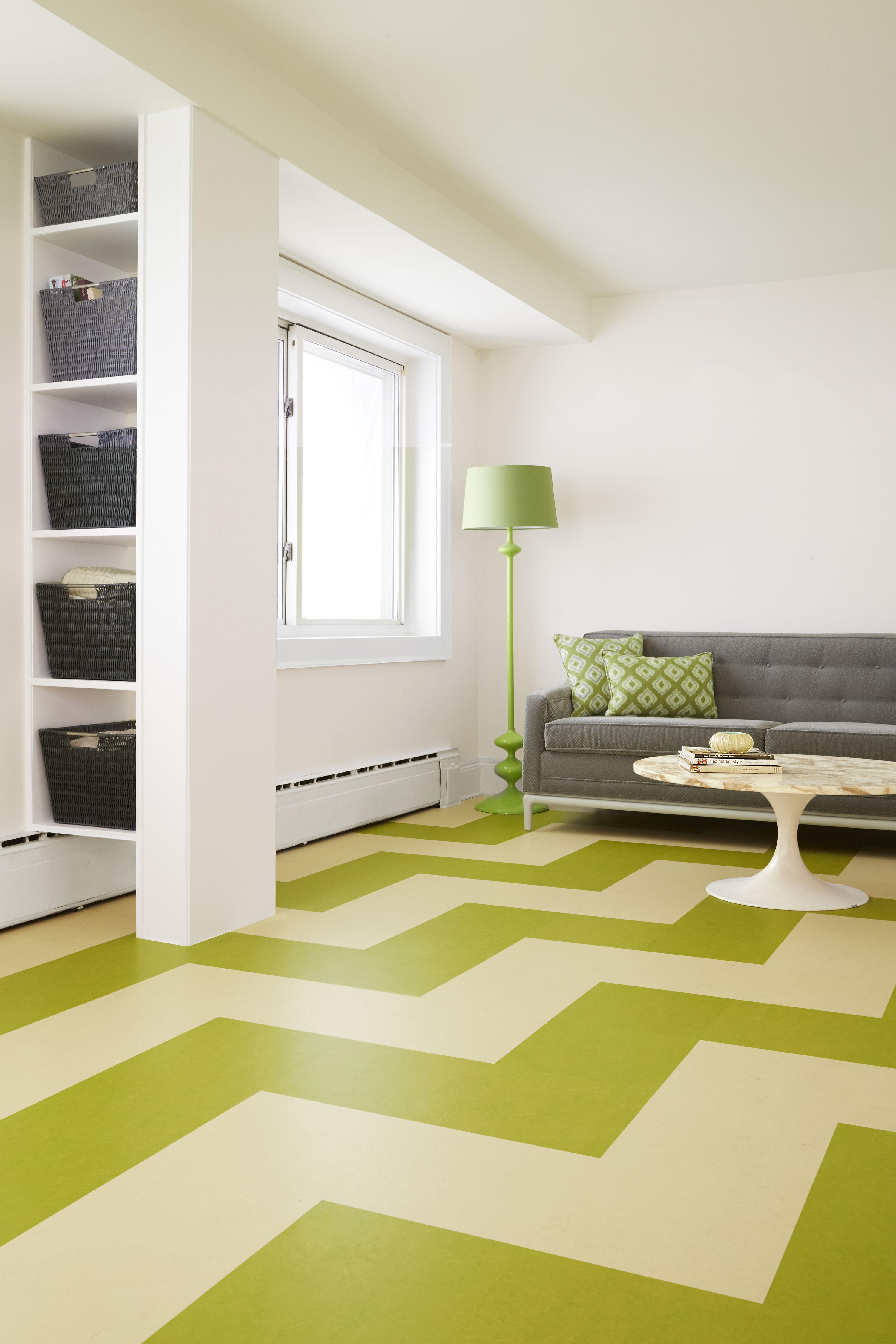Use Click Together Marmoleum Squares To Lay A Floating Floor In An Endless Array Of Colorful Patterns