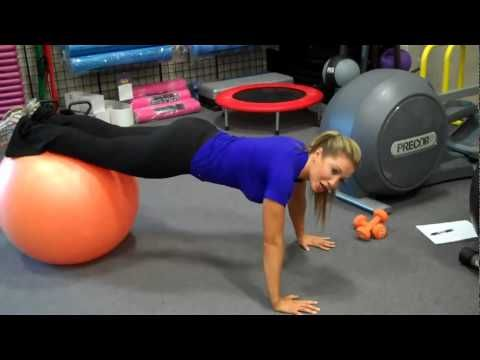 Lyzabeth Lopez Stability Ball Workouts...love her...great tips!