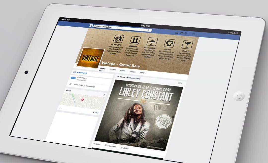 Vintage Bar Social Media Management Facebook #Digital #o8 #Origin8Concepts #Branding
