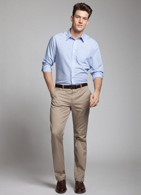 a9477575433 Tan Non-Iron Pants for Men