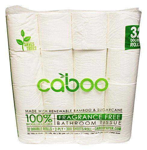 Bamboo Bath Tissue by Caboo 100 TreeFree Toilet Paper Organic Bamboo ...