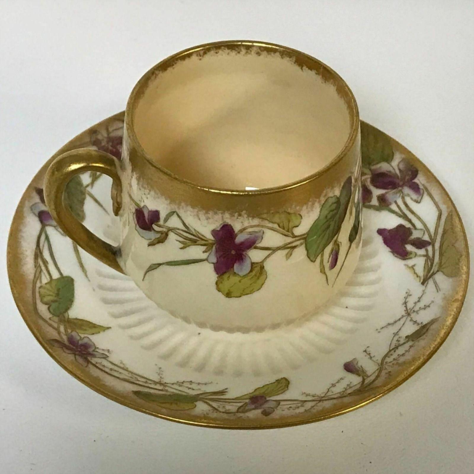 Details About Antique George Jones Sons Stoke Crescent Floral