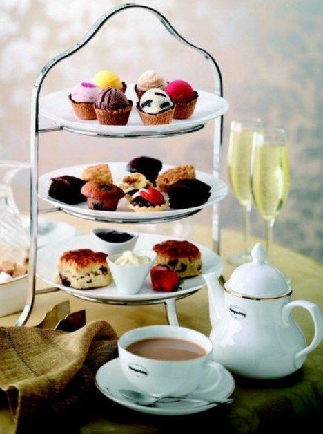 Bite size tea party snacks. Photo courtesy of Scribblecitycentral.blogspot.com.