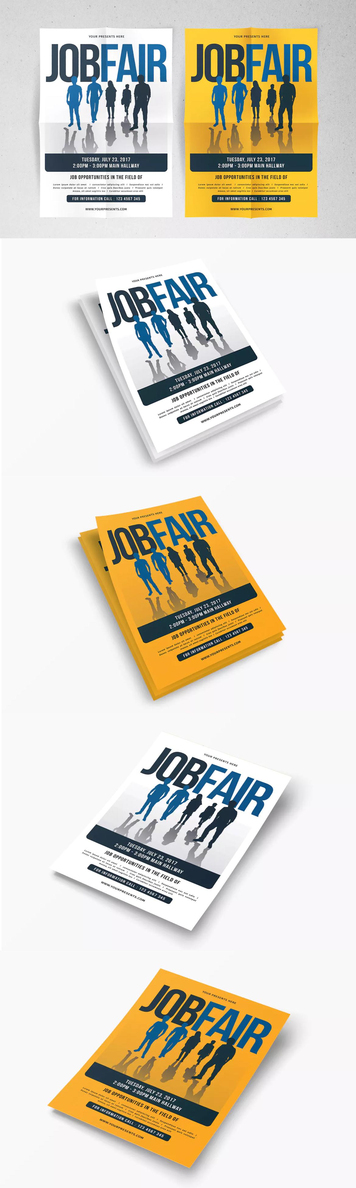 Job fair flyer template ai psd flyer design templates pinterest job fair flyer template ai psd maxwellsz