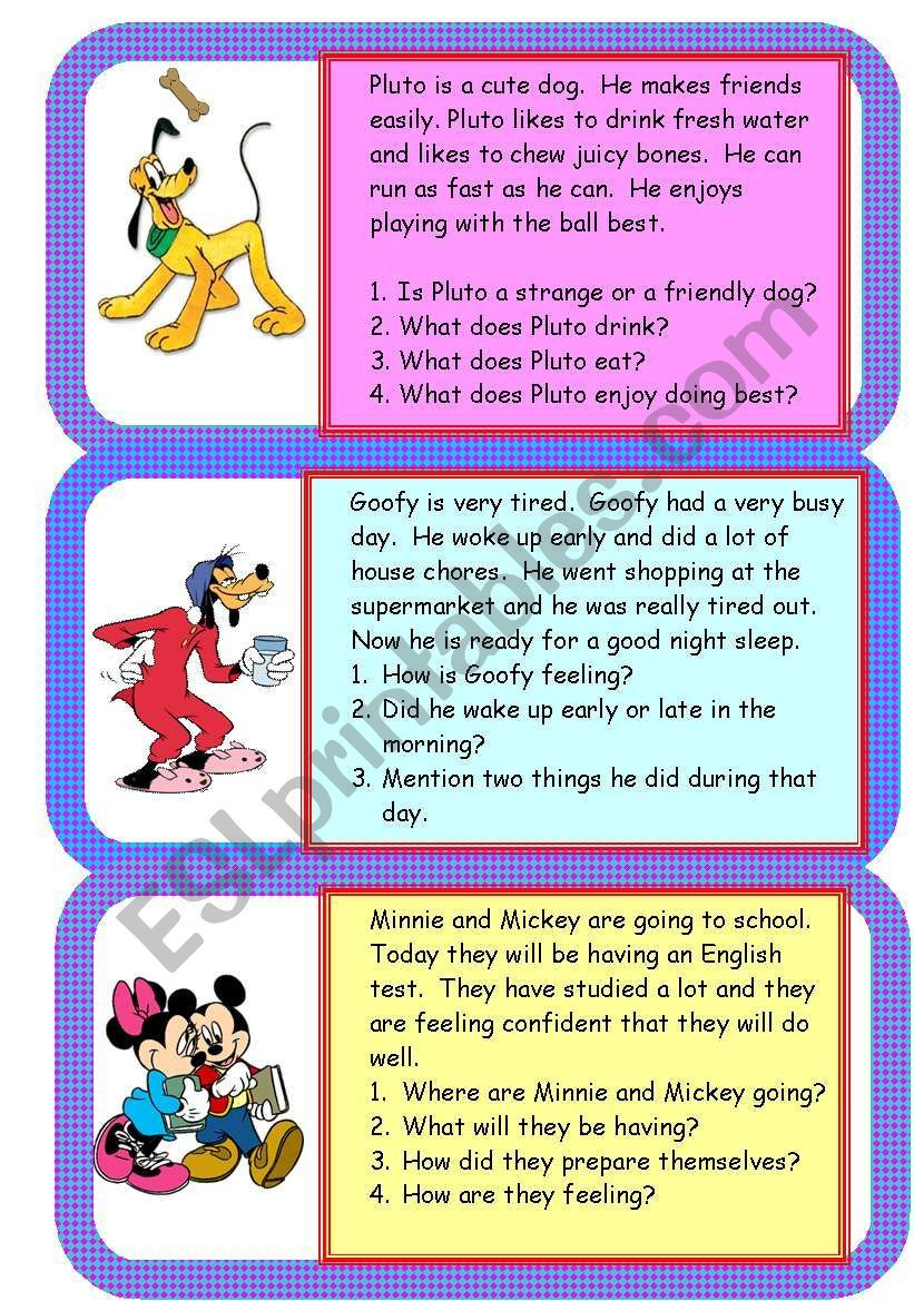 Short And Easy Comprehensions Comprehension Teaching Resources Making Friends [ 1169 x 821 Pixel ]