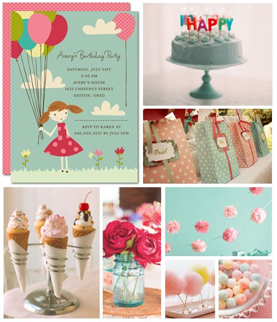 Vintage Sweet Birthday Party Inspiration Board