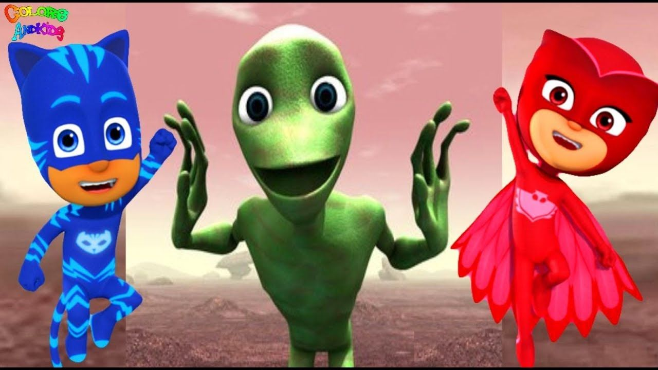 Funny Alien Dance With Pj Masks Learn Colors And Song For Kids
