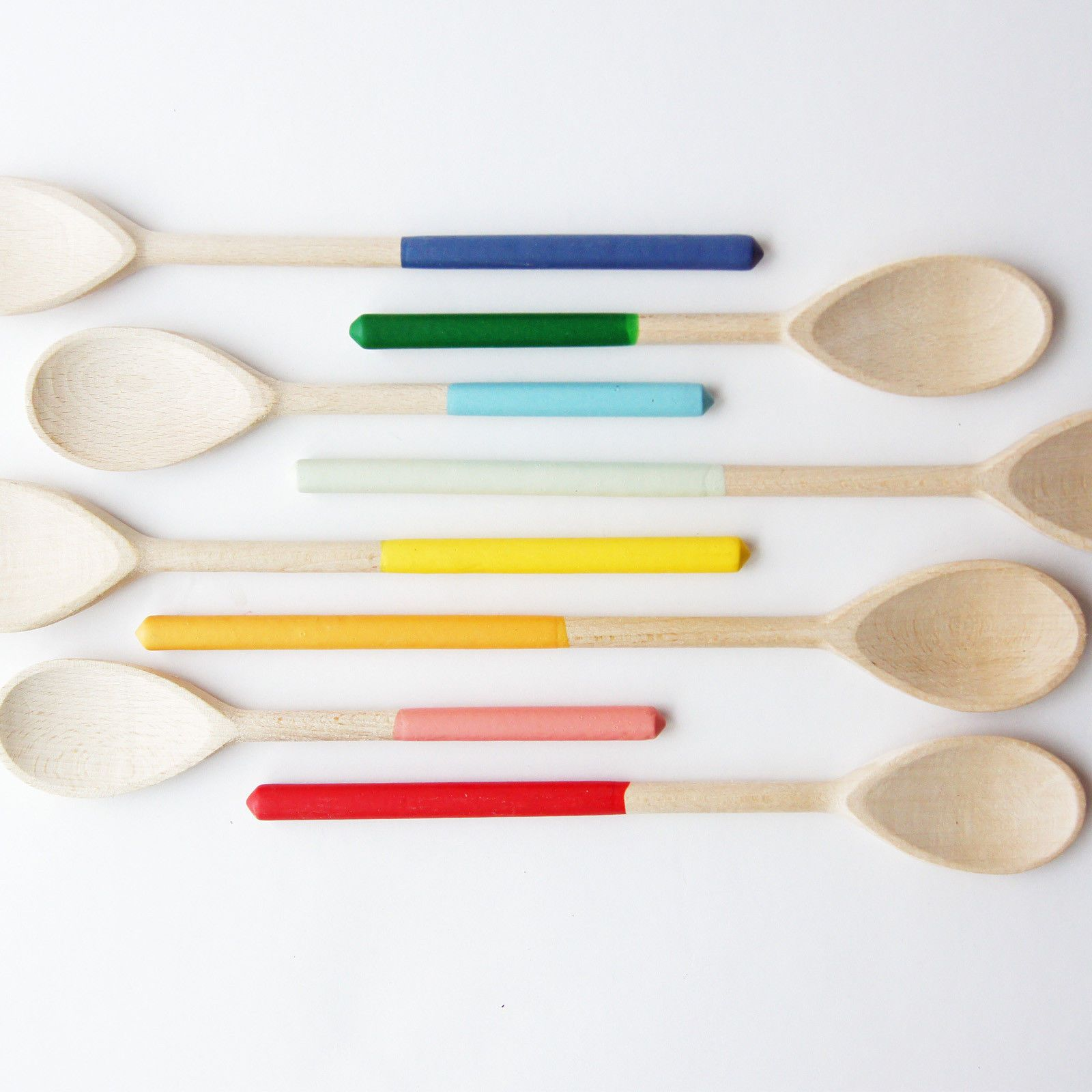Wind And Willow Hand Dipped Colorful Wooden Spoons
