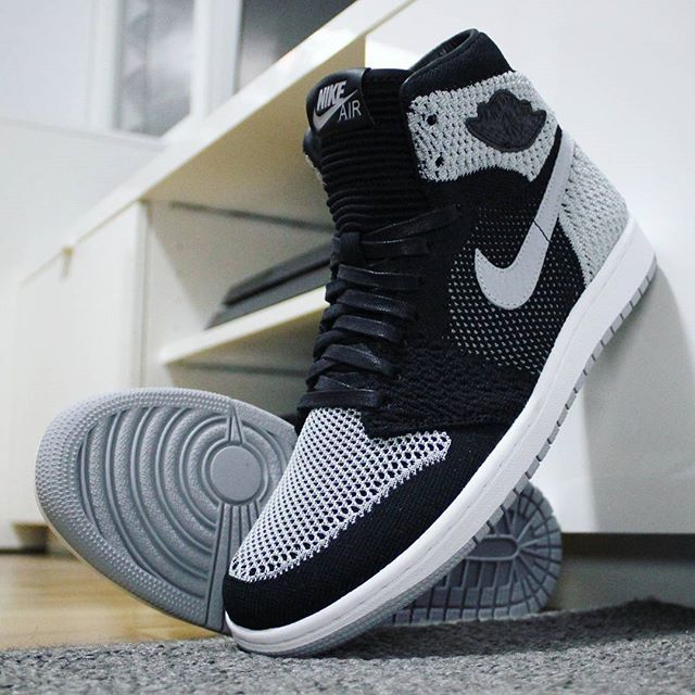 49f20e387735 Go check out my Air Jordan 1 Retro High Flyknit Shadow on feet channel link  in