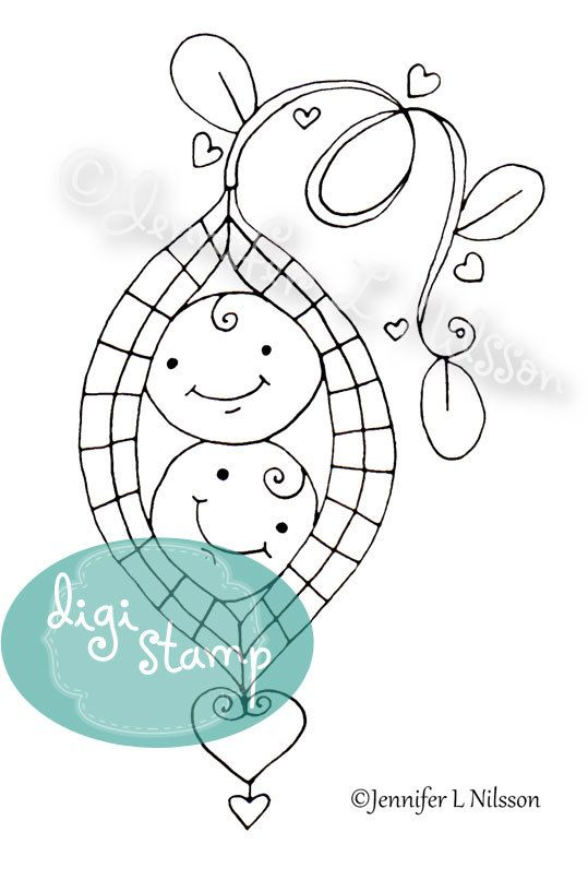 Digital Stamp - Sweet Pea