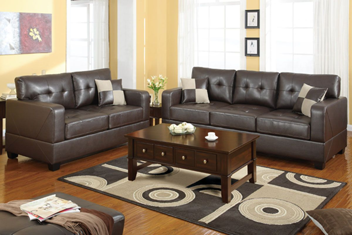 Dining Room Sets Leather Chairs Inspiration Living Roomcomely All Around Bonded Leather Living Room Set In Review