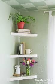 Image Result For Using A Small Square Corner Bookcase In Living Room Decor With Images Floating Shelves Living Room Decorating Shelves Floating Corner Shelves