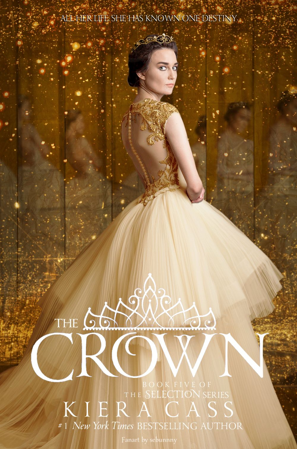 The Selection Series Book Cover ~ Sebunnny fanart bookcover gt the crown by kiera cass