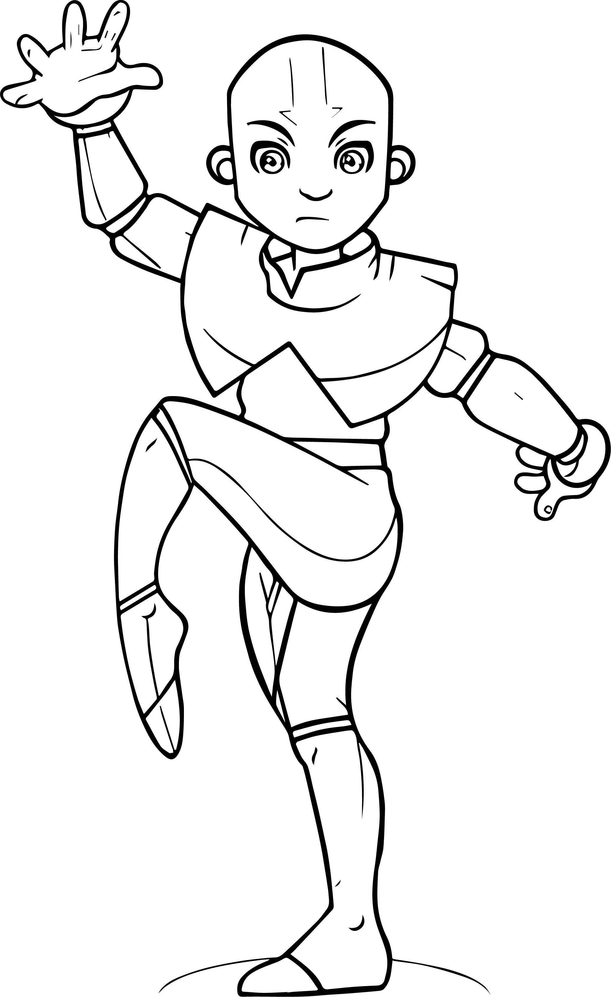 Cool Avatar Aang Torogoz Avatar Aang Coloring Page