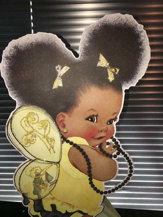 Bumble Bee Theme Afro Puff Babies African American Baby