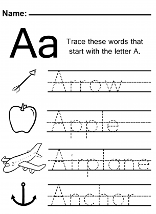 letter tracing worksheets trace the letter a worksheet home school 23281 | aad09bf7b606619b2cffab192569114b