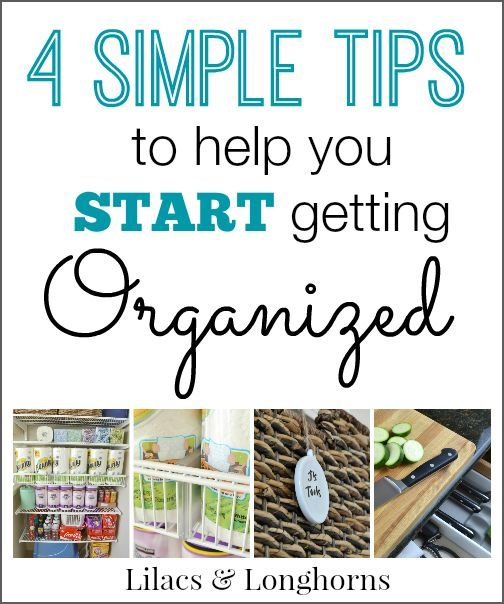 Don't know where to start but know you need to get your home organized?  Follow these 4 simple tips and you'll be clutter-free in no time!