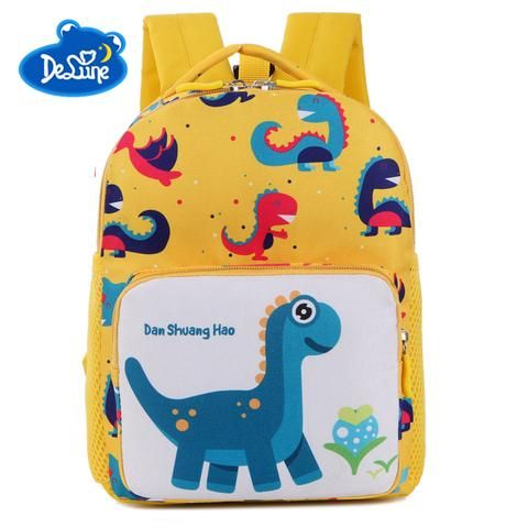 0630ec8e619b 2018 New Kids Backpacks Cute Cartoon Dinosaur Printed School Bags for Kindergarten  Girls Boys Children Anti-list Bags Toddle Bag