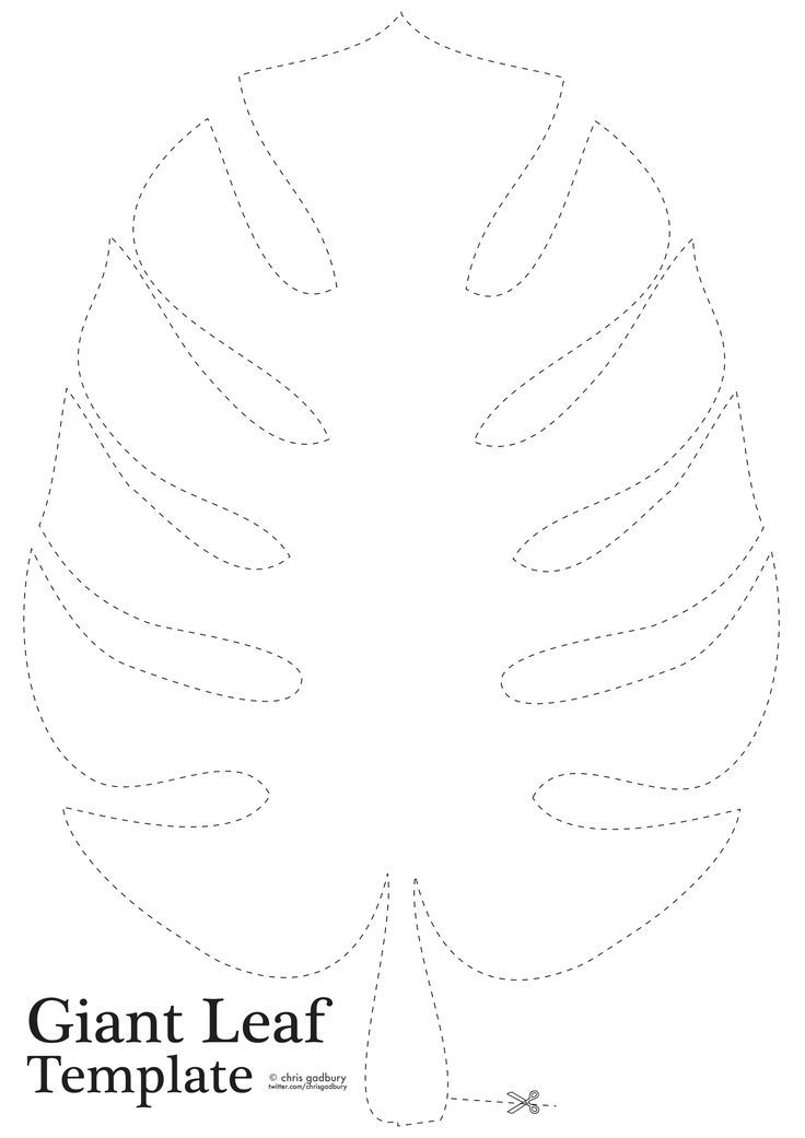 Jungle leaf template clip art pinterest template for Jungle leaf templates to cut out