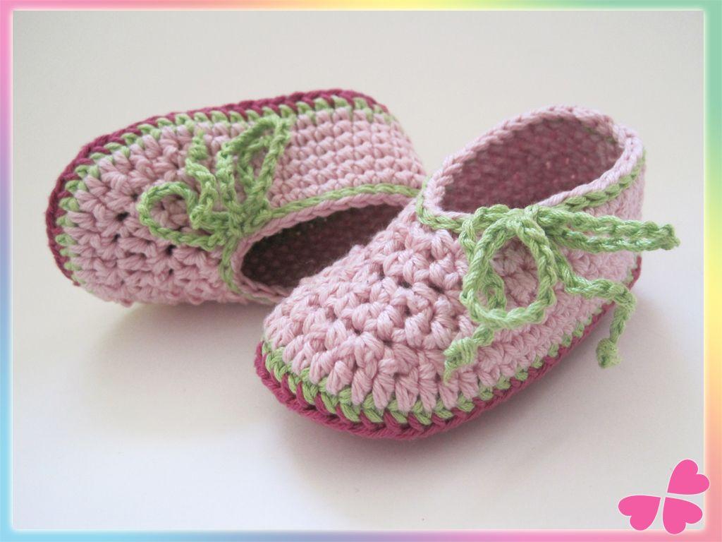 Häkelanleitung für Babyschuhe, Babyschuhe, Baby, Schuhe, häkeln ...