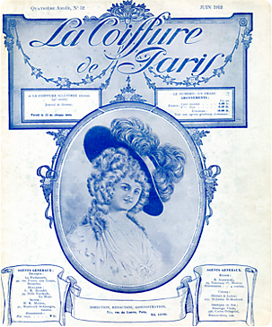1909...The first issue of La Coiffure de Paris is published in ...