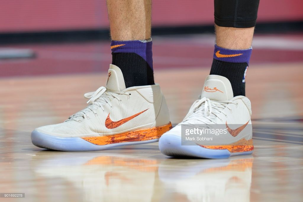 84b7cba62276 News Photo   Sneakers of Devin Booker of the Phoenix Suns ...