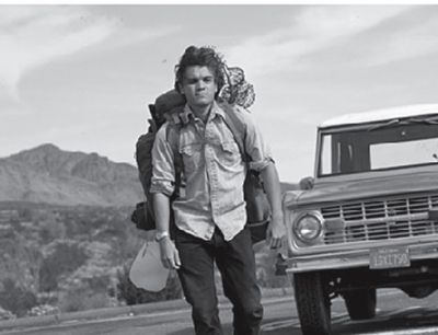 Chris McCandless when he was dropped off by Ron Franz and hitchhiking to Fairbanks Alaska.