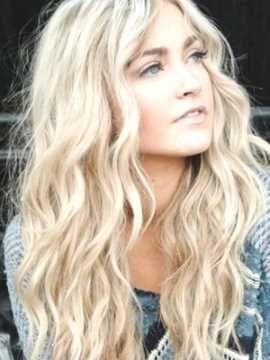 Frisur blond lange haare