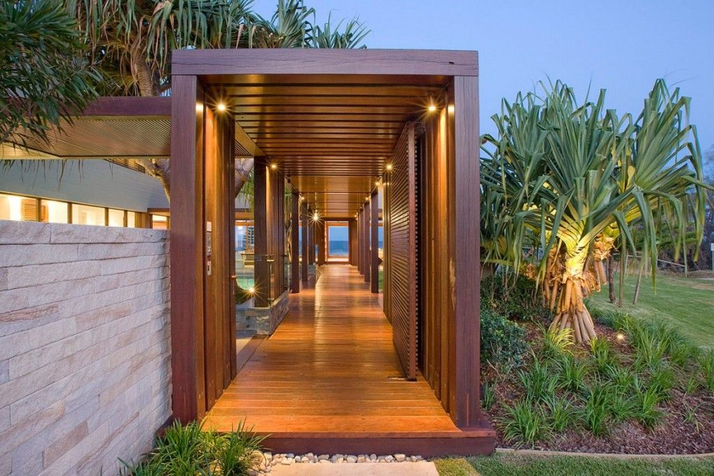 Architecture: Recycled Timber Colonnade Glazed Hallway Of Albatross  Residence With Contemporary Timber Exterior And Beautiful Nice Ideas