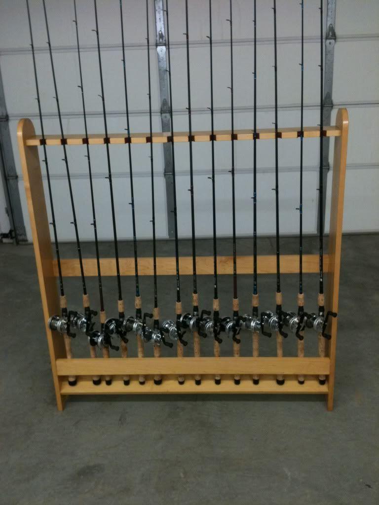Fishing Rod Holders By CodeNameDarkBlue Woodworking Community Rod